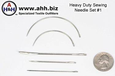 Five piece Heavy Duty Sewing Needle Set Number 1