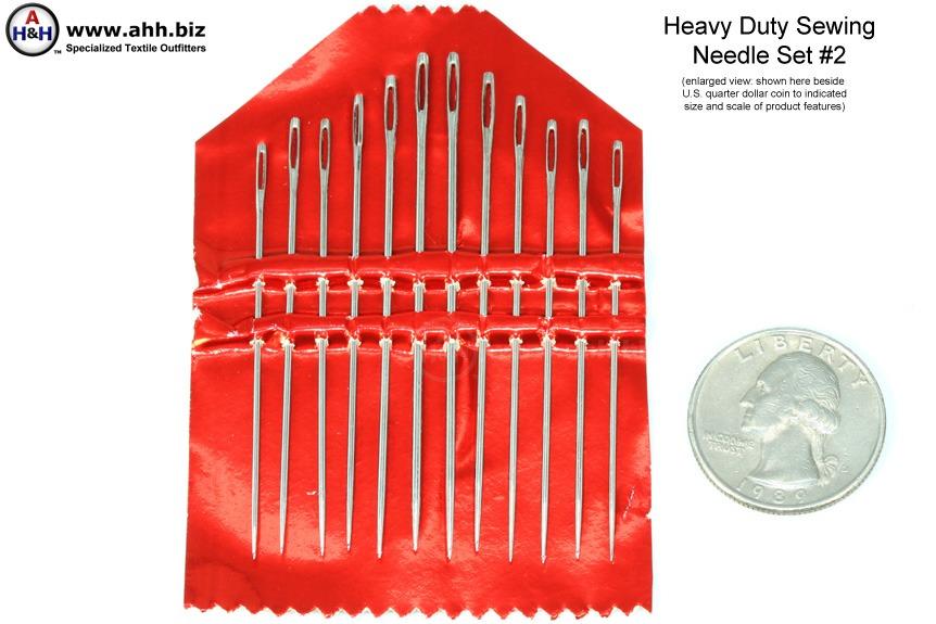 Heavy Duty Sewing Needles 12 Piece Assortment 2