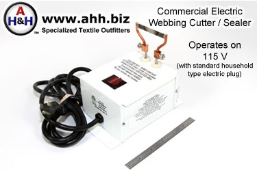 Electric Webbing Cutter / Heat Sealer, Commercial Grade