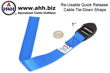 Re-Usable Quick Release Cable Tie-Down Straps