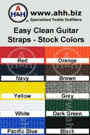 Easy Clean Guitar Straps is available in these colors