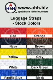 Luggage Strap with Premium Side Release Buckle is available in these colors