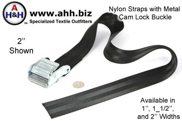Nylon Straps with Metal Cam Lock Buckles