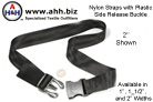Nylon Straps with Plastic Side Release Buckle Clip