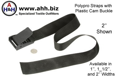 Polypropylene Straps with Plastic Cam Lock Buckle