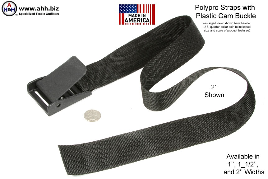 1 Polypro Cam Strap in Navy 12 Length