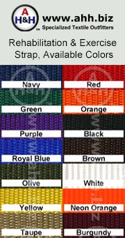 Blue Rehabilitation & Exercise Strap: is available in these colors