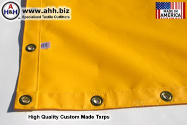 Custom made Mesh Tarps - You design it - Select features from online menus