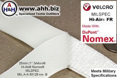 Velcro® Hi-Air® Mil-Spec 25mm Fire Resistant NOMEX®