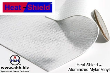 Heat Shield™ Aluminized Mylar Thermal Reflective Vinyl 18 oz. - Has an Insulating R value of 0.770, also good for photographic reflectors