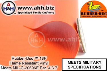Rubber-Duc™ 18FR Fire Resistant Military Vinyl Fabric