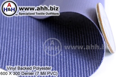 Vinyl Backed Polyester Fabric, 600 Denier
