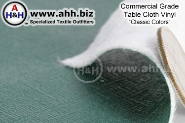 Commercial Table Cloth Vinyl Fabric ′Classic Colors′
