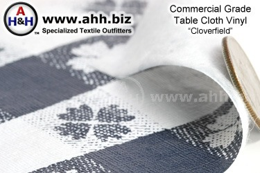 Commercial Table Cloth Vinyl Fabric ′Clover Field′ Pattern