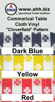 Commercial Table Cloth Vinyl Fabric ′Clover Field′ Pattern is available in these colors