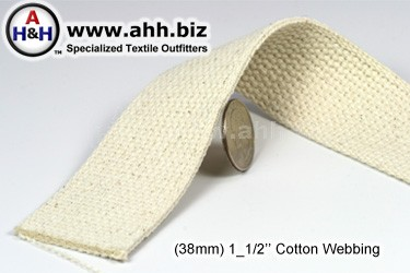 1_1/2″ Cotton Webbing - Renewable Resource Green Textile