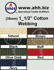 1_1/2″ Cotton Webbing - Renewable Resource Green Textile: is available in these colors