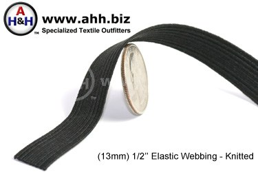 1/2  inches Flat Knitted Elastic Webbing