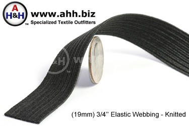 3/4  inches Flat Knitted Elastic Webbing