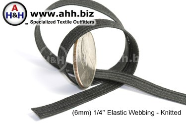 1/4  inches Flat Knitted Elastic Webbing