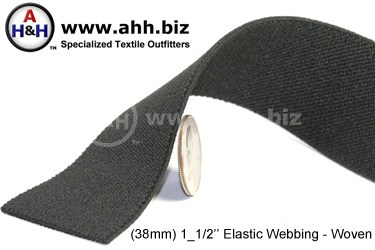 1_1/2  inches Flat Woven Elastic Webbing