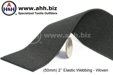 2  inches Flat Woven Elastic Webbing