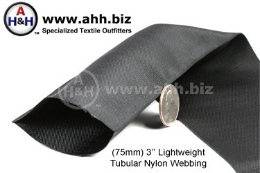 3″ Lightweight Tubular Nylon Webbing