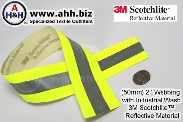 Reflective Webbing 3M Scotchlite™ 50mm Flame Resistant Aramid Base