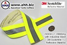 Fire Resistant Aramid Backed Reflective Webbing for Industrial Uses with 3M Scotchlite™ - 50mm