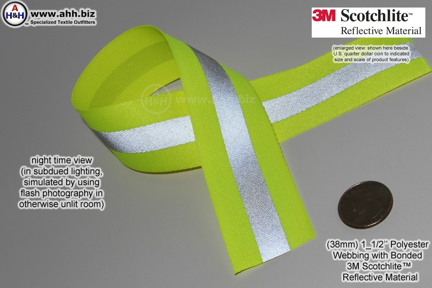 1 1 2 Inch Reflective Webbing With 3m Scotchlite