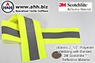 Reflective Webbing featuring 3M Scotchlite™ - 63mm (2_1/2'' width)