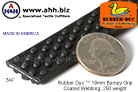 3/4'' Rubber Duc™ brand Rubber Coated Webbing Bumpy Grip 250 weight