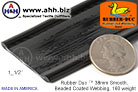 1_1/2'' Rubber Duc™ brand Rubber Coated Webbing Smooth Beaded 38mm, 160 weight
