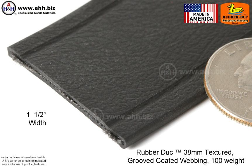Textured Grooved Rubber Coated 1 5 Inch Webbing